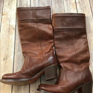 Authentic Frye Boots Brown Size 6.5